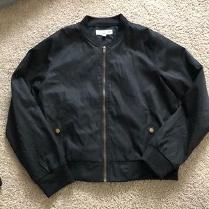 Jackets & Blazers - Black silky bomber jacket